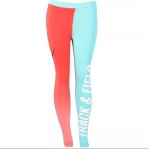 Nike Track and Field Legging Two Tone Ombre